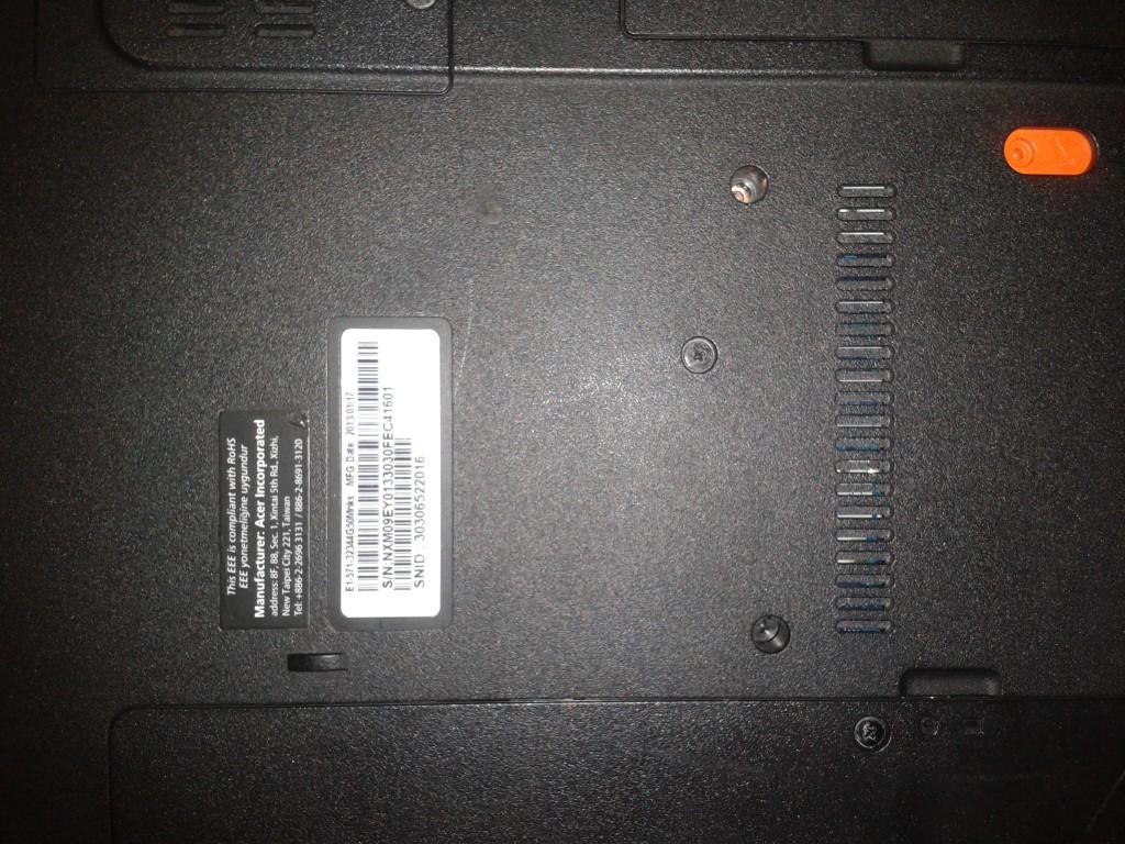 acer laptop model numarası