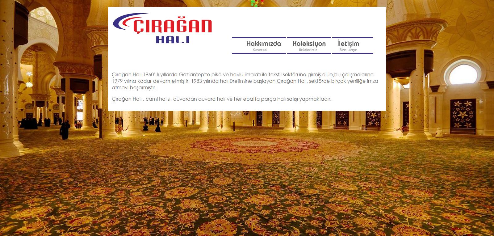 Çırağan halı website tasarımı, Gaziantep