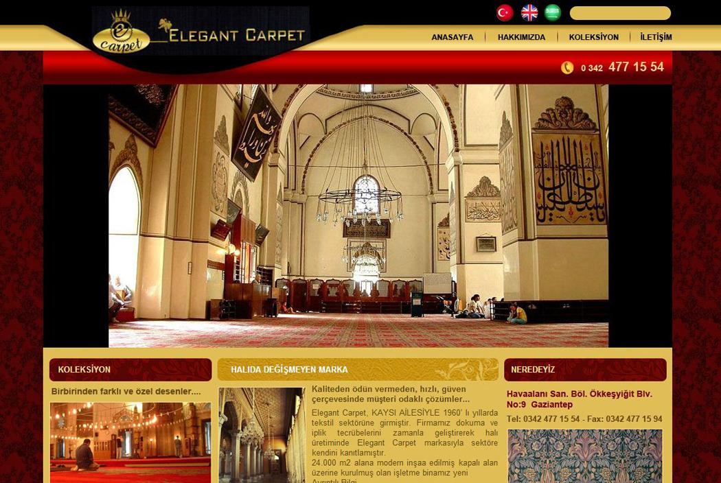 Elegant Carpet website