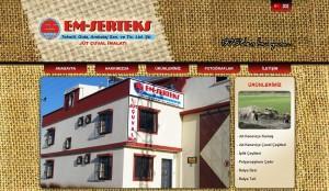 Emserteks website tasarımı