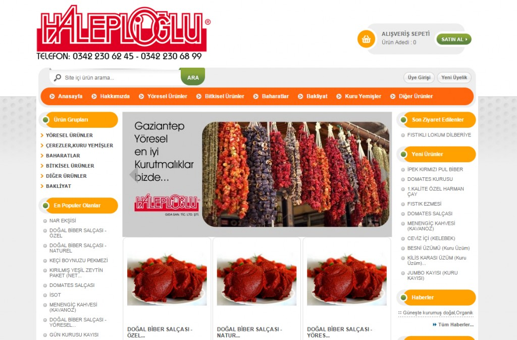 Gaziantep e-ticaret www.haleplioglu.com.tr
