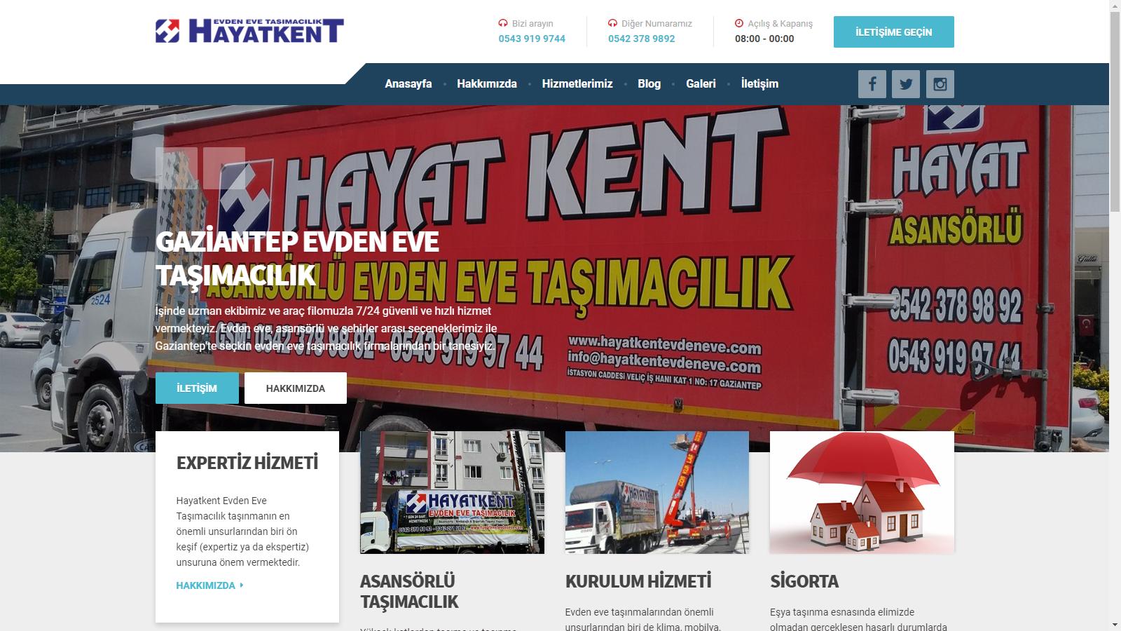 Hayatkent evden eve taşımacılık website
