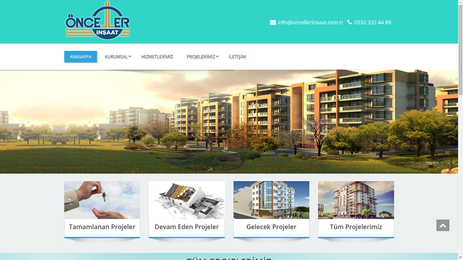 Önceller İnşaat website tasarım